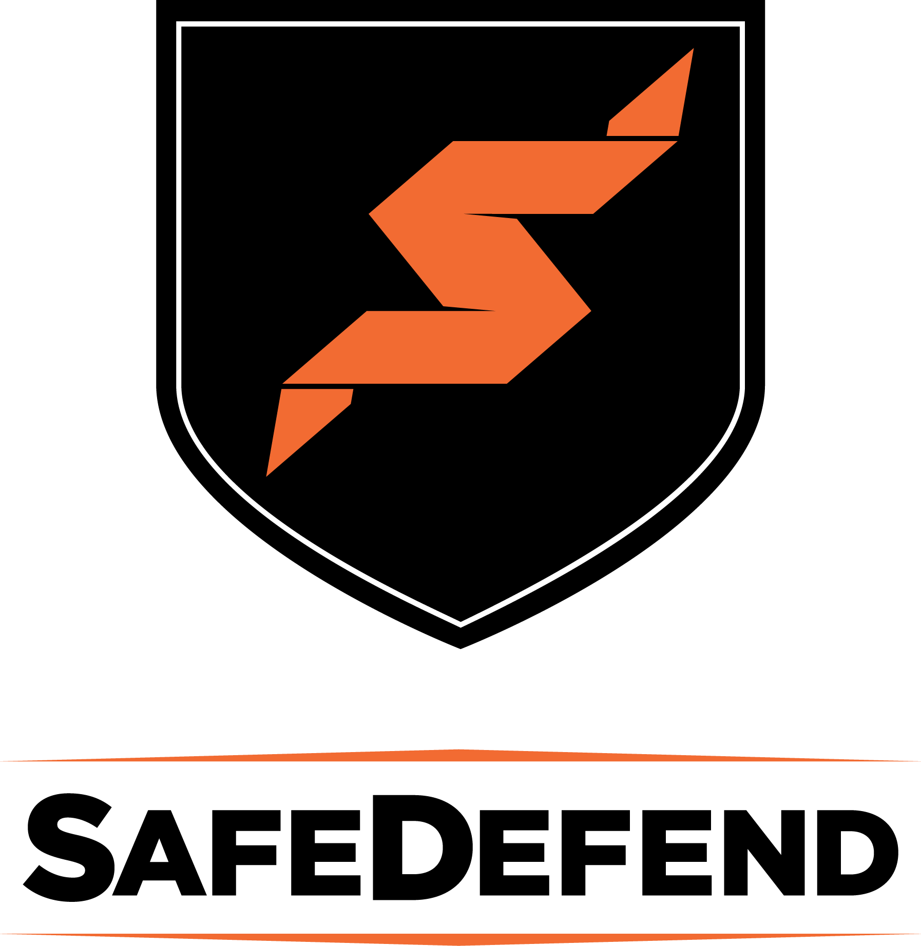 SafeDefend Logo with Shield